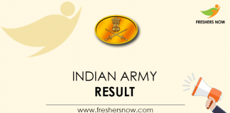 Indian Army Result