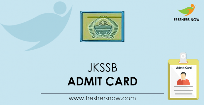 JKSSB-Admit-Card