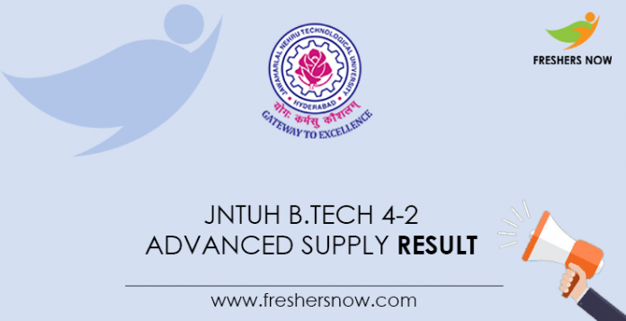 JNTUH B.Tech 4-2 Advanced Supply Result