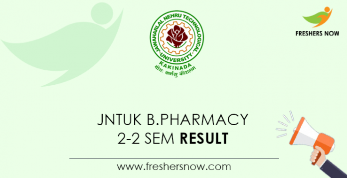 JNTUK B.Pharmacy 2-2 Sem Result