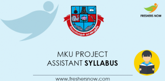 MKU Project Assistant Syllabus