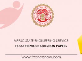 MPPSC State Engineering Service Exam Previous Question Papers