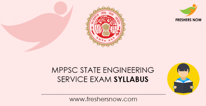 MPPSC State Engineering Service Exam Syllabus
