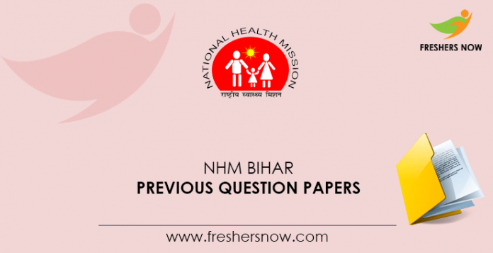 NHM Bihar Accountant, Accounts Assistant Previous Question Papers