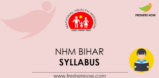 NHM Bihar Accountant, Accounts Assistant Syllabus
