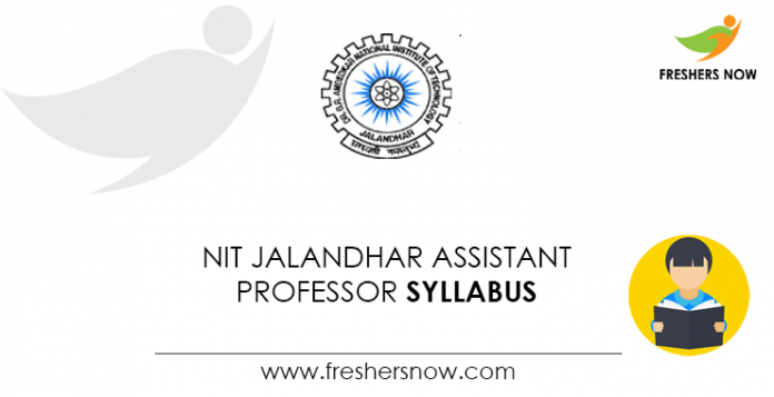 NIT-Jalandhar-Assistant-Professor-Syllabus