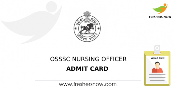 OSSSC Nursing Officer Admit Card