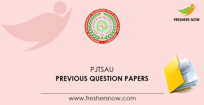 PJTSAU Previous Question Papers