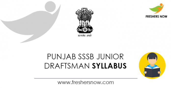 Punjab SSSB Junior Draftsman Syllabus