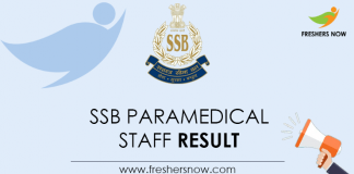SSB-Paramedical-Staff--Result