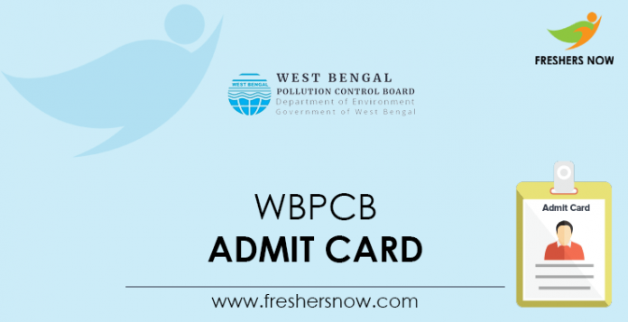 WBPCB Admit Card