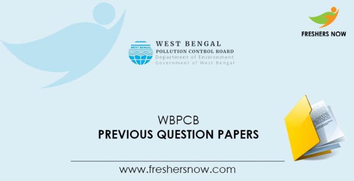 WBPCB Previous Question Papers