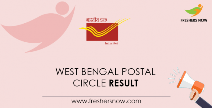 West Bengal Postal Circle Result