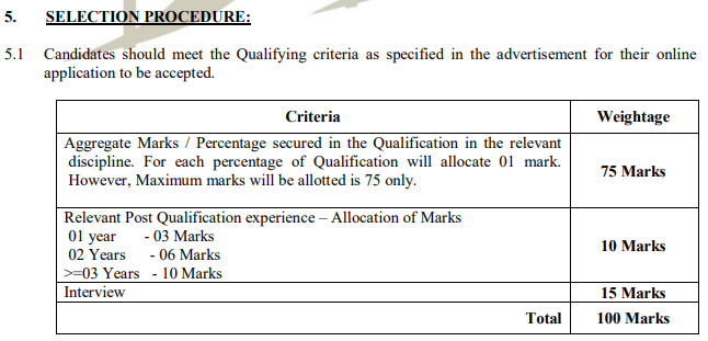 BDL Recruitment 2021 Selection Procedure
