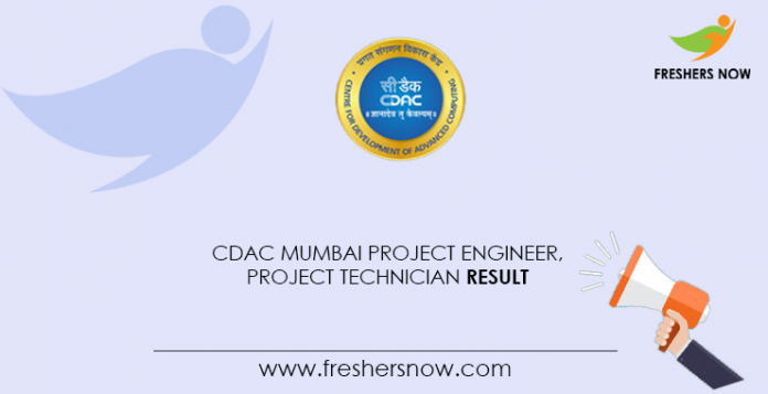 CDAC-Mumbai-Project-Engineer,-Project-Technician-Result