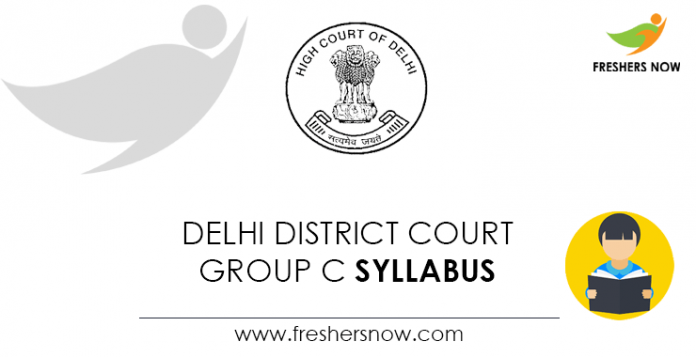 Delhi District Court Group C Syllabus