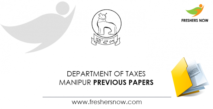 Department-of-Taxes-Manipur-Previous-Papers