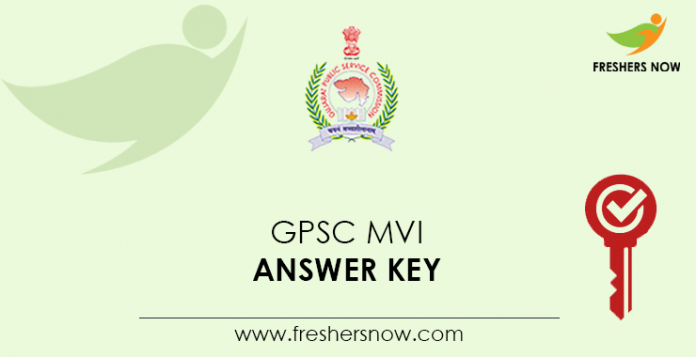GPSC MVI Answer Key