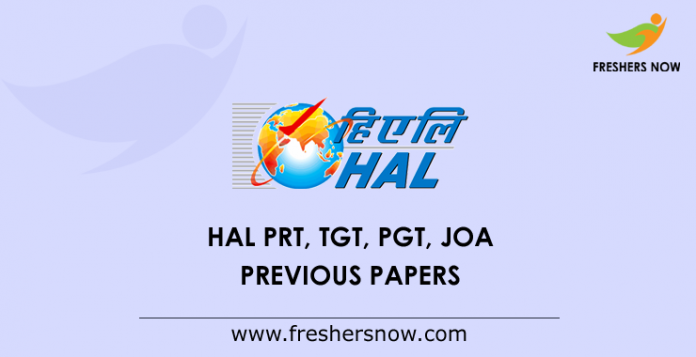 HAL-PRT, -TGT, -PGT, -JOA-Previous-Papers