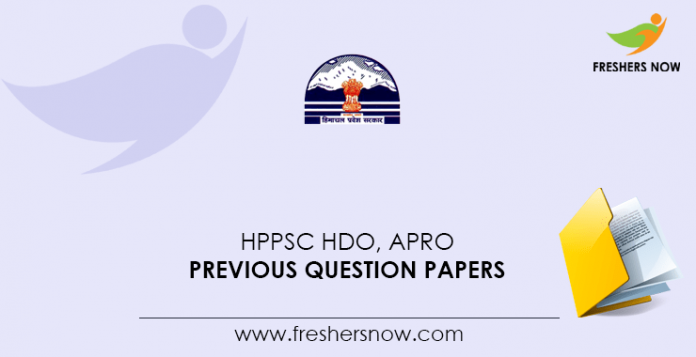 HPPSC-HDO,-APRO-Previous-Question-Papers