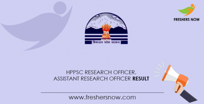 HPPSC-Research-Officer,-Assistant-Research-Officer-Result