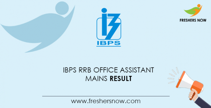 IBPS-RRB-Office Assistant-Network Result