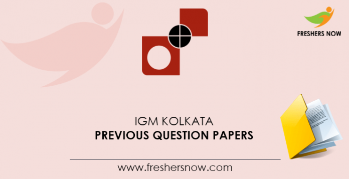 IGM-Kolkata-Previous-Question-Papers