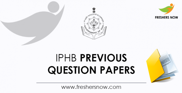 IPHB Previous Question Papers