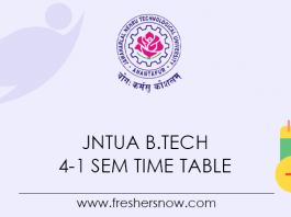 JNTUA-B.Tech-4-1-Sem-Time