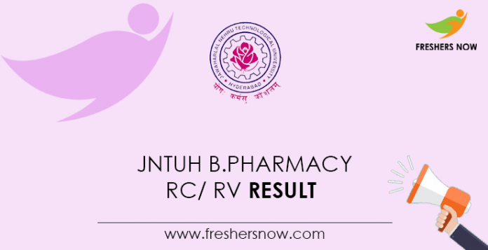 JNTUH-B.Pharmacy-RC--RV-Result