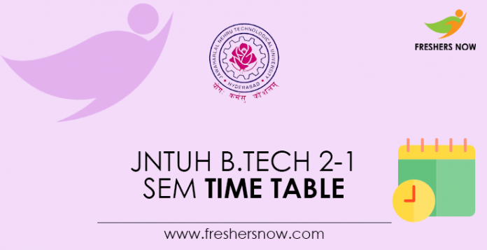 JNTUH-B.Tech-2-1-Sem-Time-Table