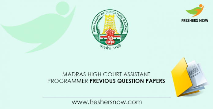 Madras-High-Court-Assistant-Programmer-Previous-Question-Papers