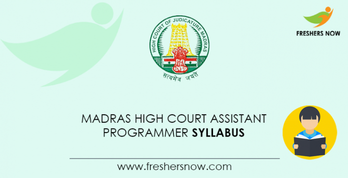 Madras-High-Court-Assistant-Programmer-Syllabus