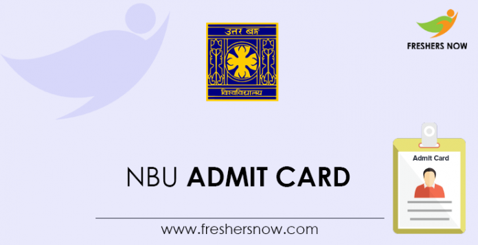 NBU Admit Card