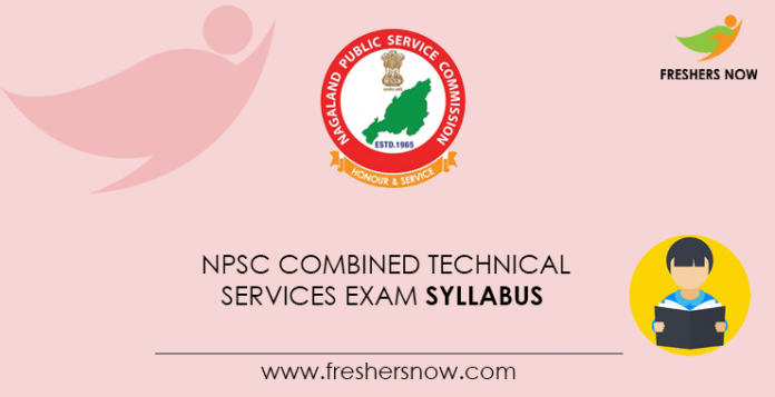 NPSC Combined Technical Services Exam Syllabus 2021