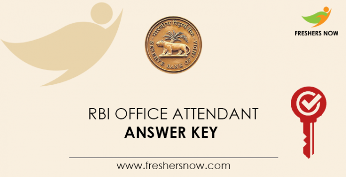 RBI-Office-Attendant-Answer-Key
