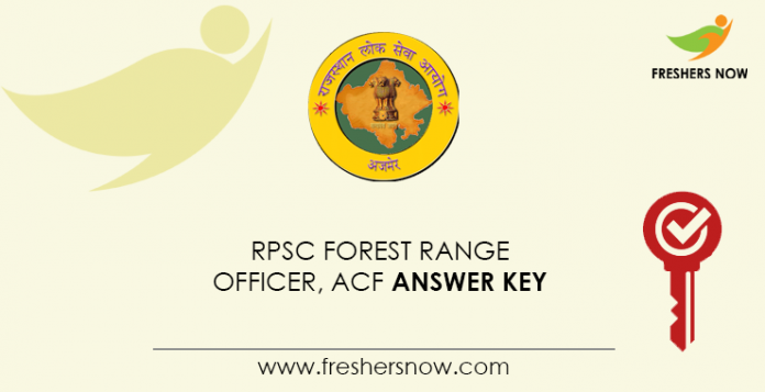 RPSC Forest Range Officer, ACF Answer Key