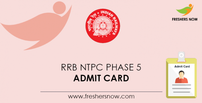 RRB-NTPC-Phase-5-Admit-Card