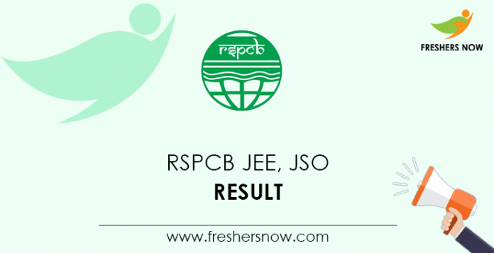 RSPCB-JEE, -JSO-Result