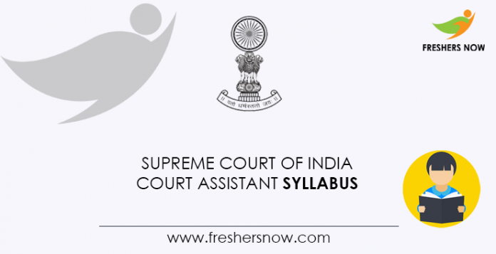 Supreme-Court-of-India-Court-Assistant-Syllabus
