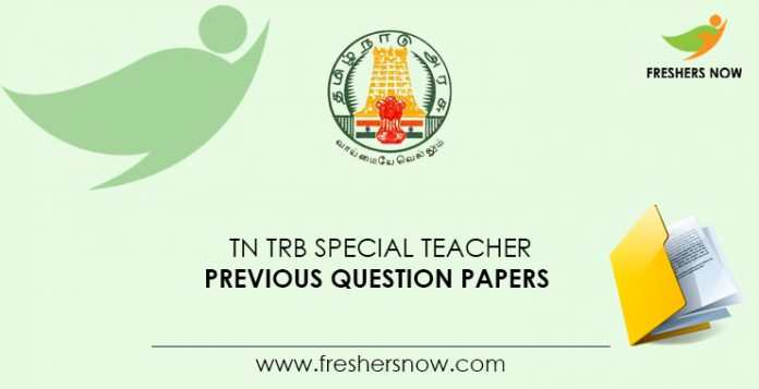 TN TRB Special Teacher Previous Question Papers