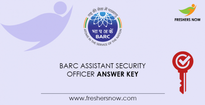 BARC-Assistant-Security-Officer-Answer-Key