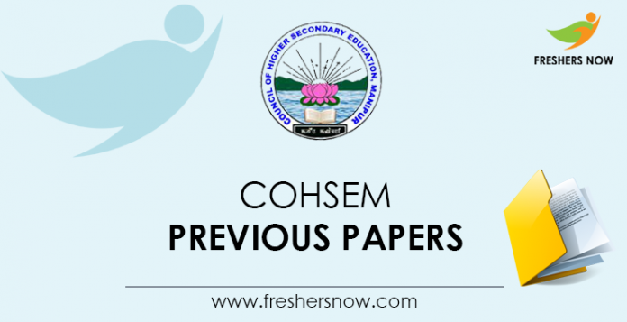 COHSEM Previous Question Papers