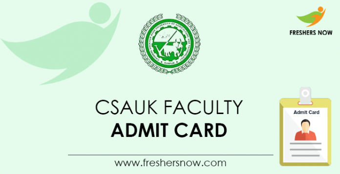 CSAUK-Faculty-Admit-Card