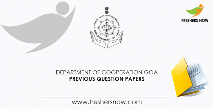 Department of Cooperation Goa Previous Question Papers