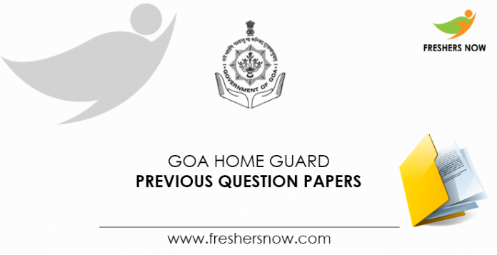 Goa Home Guard Previous Question Papers