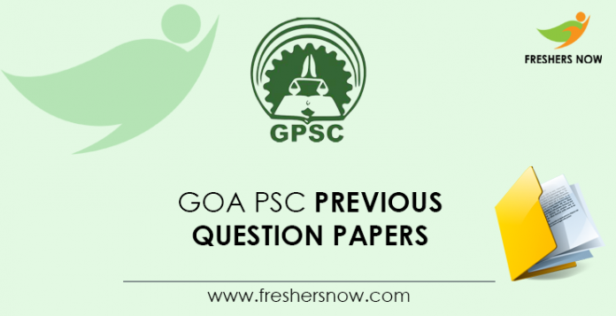 Goa PSC Previous Question Papers