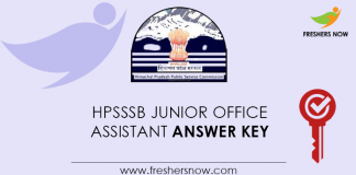 HPSSSB-Junior-Office-Assistant-Answer-Key