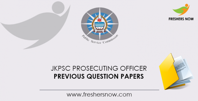 JKPSC Prosecuting Officer Previous Question Papers