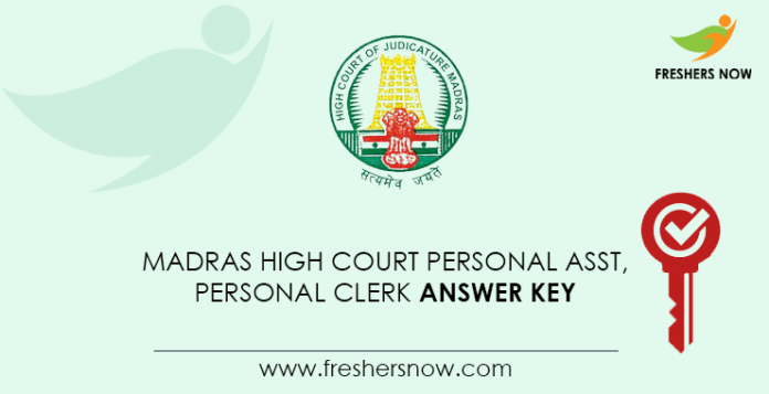 Madras-High-Court-Personal-Assistant,-Personal-Clerk-Answer-Key